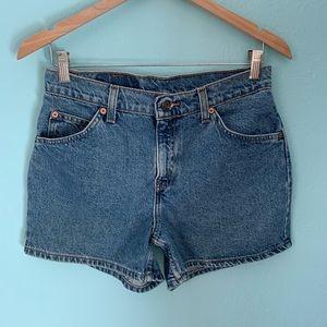 Vintage Levi's Size 8 Orange Tab Jean Shorts